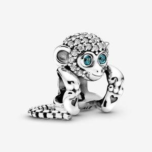 Authentic Pandora Sparkling Monkey Dangle CZ Charm